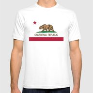 California Republic Stat… Mens Fitted Tee White SMALL