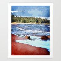 Lake Superior Bay Art Print