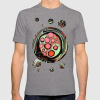 Psychedelic Circle Mens Fitted Tee Tri-Grey SMALL