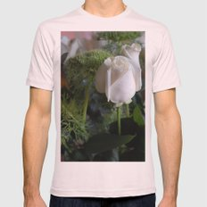 White Rose Mens Fitted Tee Light Pink SMALL