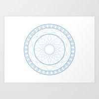Anime Magic Circle 11 Art Print