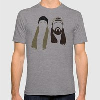 Jay And Silent Bob Strik… Mens Fitted Tee Athletic Grey SMALL