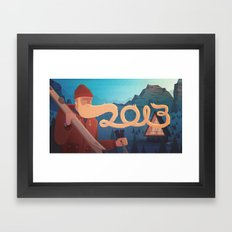 Golden Beard - 2013 Greetings Framed Art Print