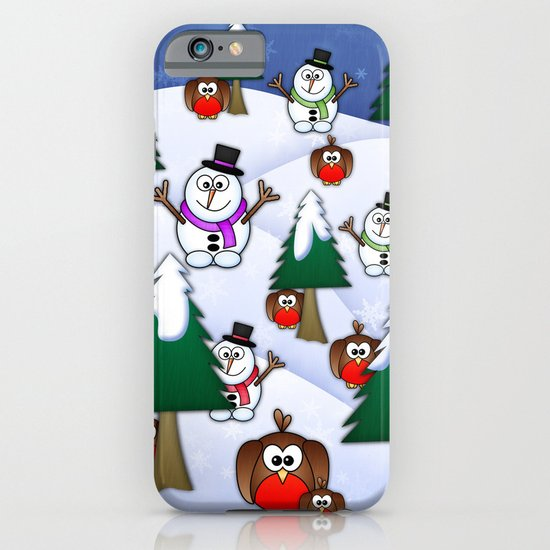 Rocking Robin In A Winter Wonderland. iPhone & iPod Case