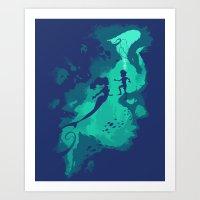 Down Below Art Print