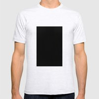 Black #1 (Black) Mens Fitted Tee Ash Grey SMALL