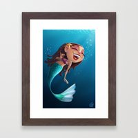 Sofia the Mermaid Framed Art Print