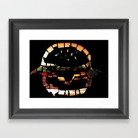 United States Of Burger Framed Art Print