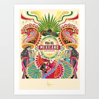 La Vida Del MEXICANO Art Print