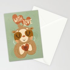 With Love From A Sloth Stationery Cards