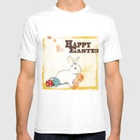Easter Mens Fitted Tee White SMALL