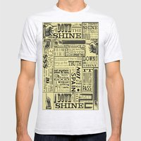 Down With The Shine Mens Fitted Tee Ash Grey SMALL