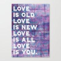 Because Canvas Print