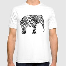 Endangered elephant - yellow Mens Fitted Tee SMALL White