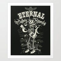 Eternal melody records Art Print