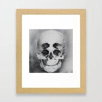 the 4i skull stencil art 1 Framed Art Print