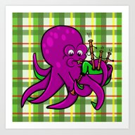 Octopus Playing The Bagp… Art Print