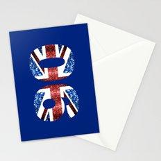 Sparkly flag of United Kingdom UK number 90 Stationery Cards