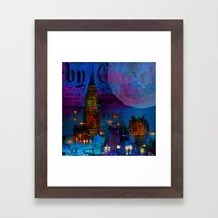 The City Which Never Sle… Framed Art Print