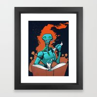 Hungry for Knowledge Framed Art Print