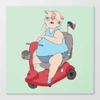 Reserved Parking Canvas Print