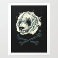 Hardcore Panda! Art Print