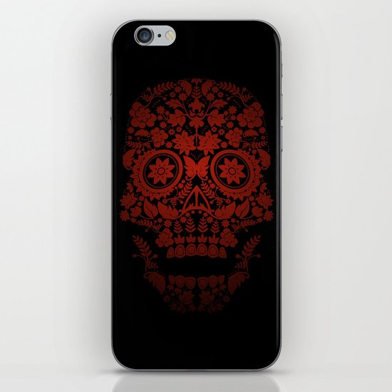 Day of the Dead Skull No.21 iPhone & iPod Skin