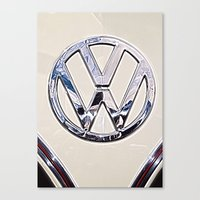 VW Camper Logo Badge Canvas Print