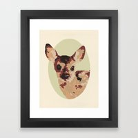 Oh Deer, oh dear! Paint-ed by Numbers Framed Art Print