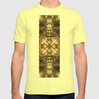 Angercast Mens Fitted Tee Lemon SMALL