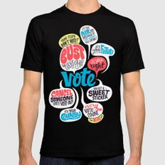 Vote! SMALL Mens Fitted Tee Black