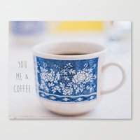 You me & Coffee Canvas Print