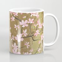 Cute Birds And Cherry Bl… Mug