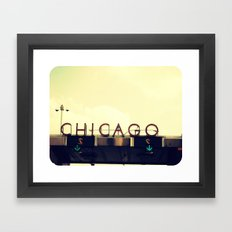 Chicago Skyway ~ Vintage Mid-Century Tollbridge Sign Framed Art Print