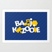Banjo-Kazooie - Blue Art Print