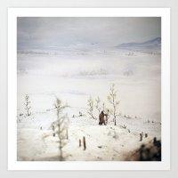 Tom Feiler Solitary Trapper Art Print