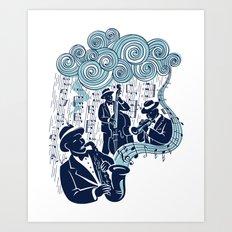Got the Blues Art Print