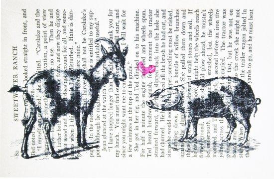 Goat Pig Love Art Print