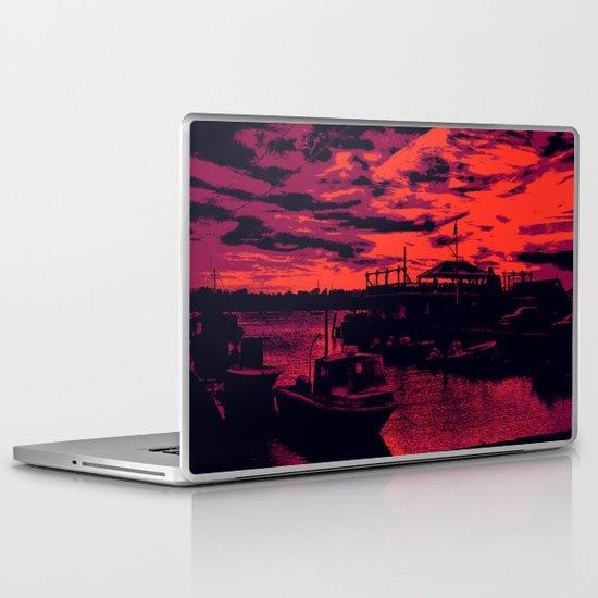 Sunset Over Bristol Harbor 2 Laptop & iPad Skin