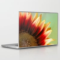 sunflower Laptop & iPad Skins featuring Sunflower by Wood-n-Images