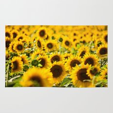 Through Fields of Light - Sunflowers Rug