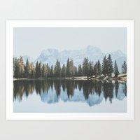 Italian Dolomites (landscape version) Art Print