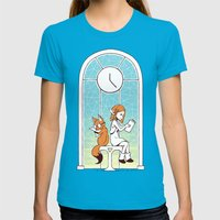 Station Womens Fitted Tee Teal SMALL