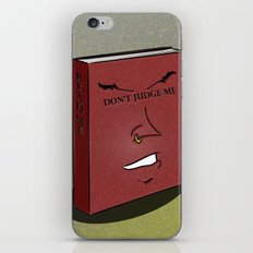Don't Judge a Book By Its Cover iPhone & iPod Skin