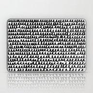 Black Wave Lines On Whit… Laptop & iPad Skin