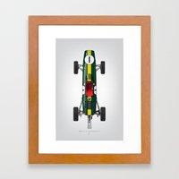 Outline Series N.º1, Jim Clark, Lotus 25-Coventry Climax 1962 Framed Art Print