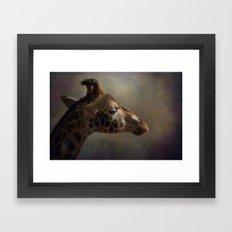 Portrait of a Giraffe Framed Art Print