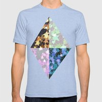 Earth Stars Mens Fitted Tee Tri-Blue SMALL