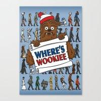 Where's Wookiee Canvas Print