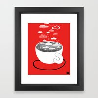 Cafe Au Cloud Framed Art Print